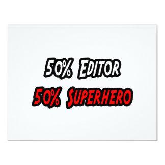 Half Editor Half Superhero 11 Cm X 14 Cm Invitation Card