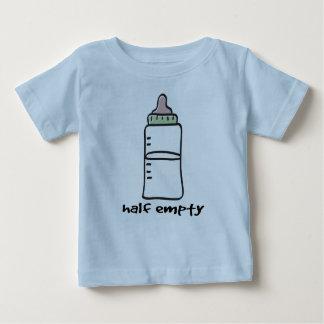 Half Empty - A Funny Baby T-Shirt