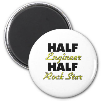 Half Engineer Half Rock Star 6 Cm Round Magnet