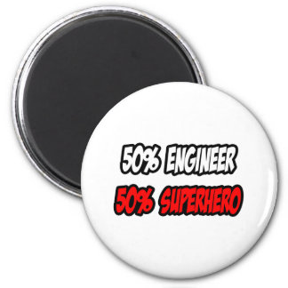 Half Engineer...Half Superhero 6 Cm Round Magnet