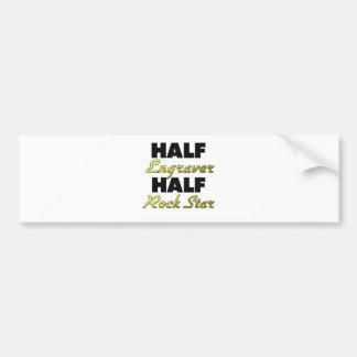 Half Engraver Half Rock Star Bumper Sticker