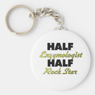 Half Enzymologist Half Rock Star Keychain