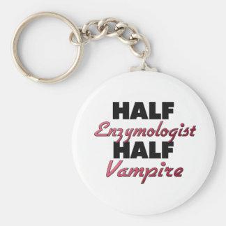 Half Enzymologist Half Vampire Keychain
