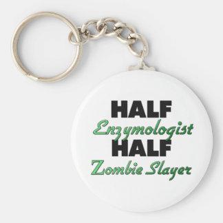 Half Enzymologist Half Zombie Slayer Basic Round Button Key Ring