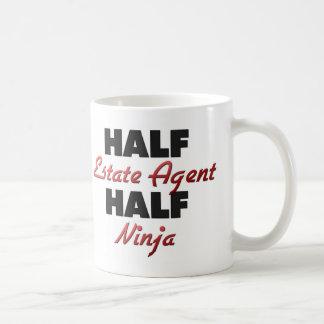 Half Estate Agent Half Ninja Basic White Mug