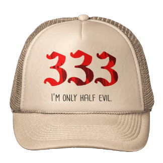 Half Evil Trucker Hats