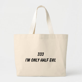 HALF EVIL JUMBO TOTE BAG