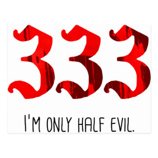 Half Evil Postcard