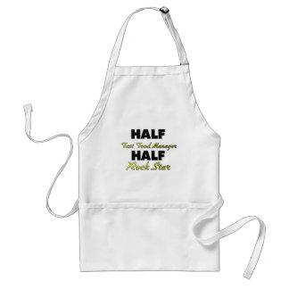 Half Fast Food Manager Half Rock Star Adult Apron