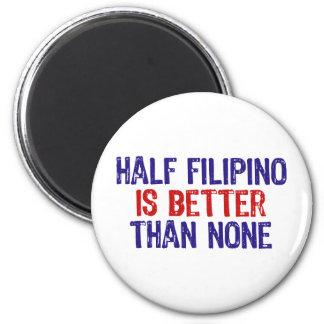 Half Filipino 6 Cm Round Magnet