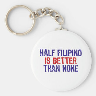 Half Filipino Basic Round Button Key Ring