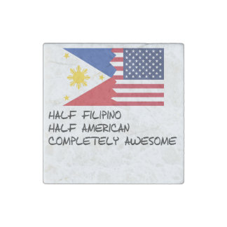 Half Filipino Completely Awesome Stone Magnet