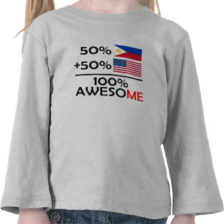 Half Filipino Half American T Shirts