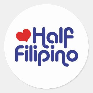 Half Filipino Round Sticker