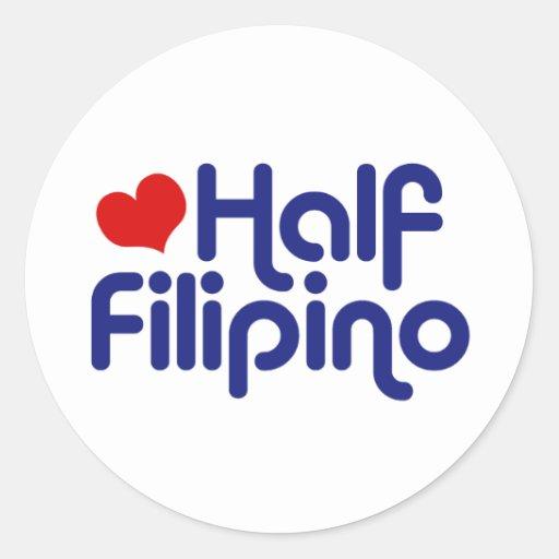 Half Filipino Round Stickers