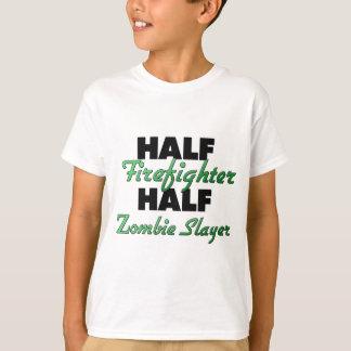Half Firefighter Half Zombie Slayer T-Shirt