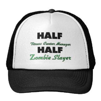 Half Fitness Center Manager Half Zombie Slayer Mesh Hats