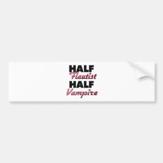 Half Flautist Half Vampire Bumper Sticker