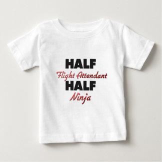 Half Flight Attendant Half Ninja Baby T-Shirt