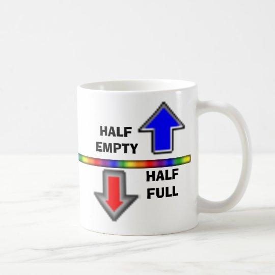 Half Full or Half Empty? Coffee Mug