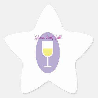 Half Full Star Sticker