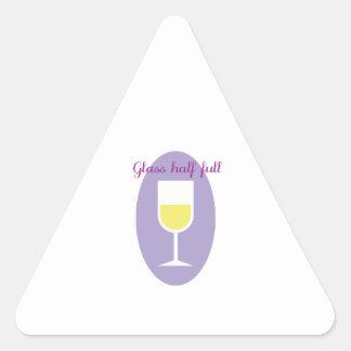 Half Full Triangle Sticker