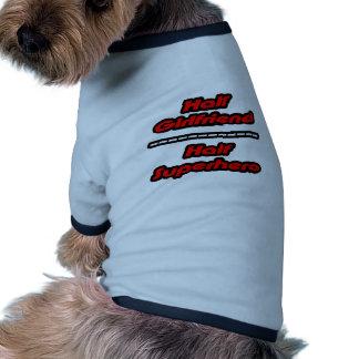 Half Girlfriend Half Superhero Dog Shirt