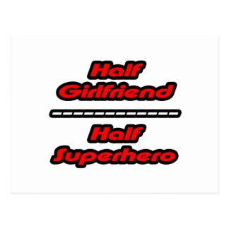 Half Girlfriend Half Superhero Postcard