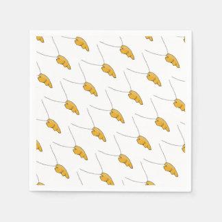 Half gold hart disposable serviette