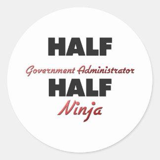 Half Government Administrator Half Ninja Sticker