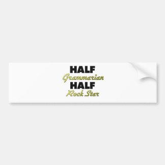 Half Grammarian Half Rock Star Bumper Sticker