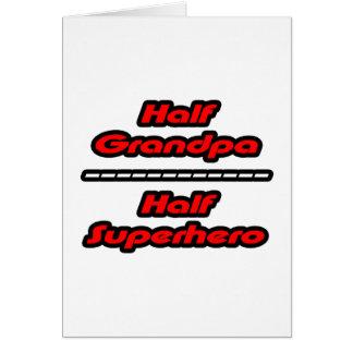 Half Grandpa Half Superhero Cards