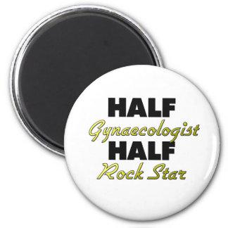 Half Gynaecologist Half Rock Star Fridge Magnet