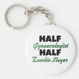 Half Gynaecologist Half Zombie Slayer Keychains