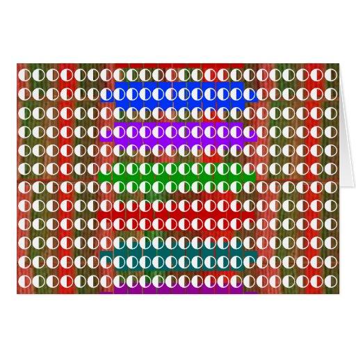 Half / Half BALANCED  Moon Energy for GOOD Greeting Cards
