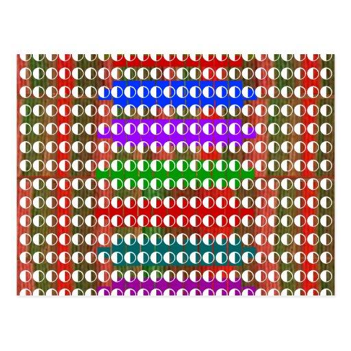Half / Half BALANCED  Moon Energy for GOOD Post Card