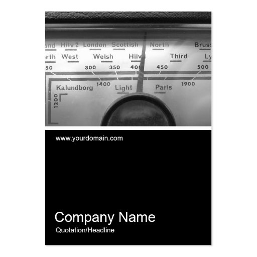 Half&Half Photo 0225 - Old UK Radio Dial Business Card Templates