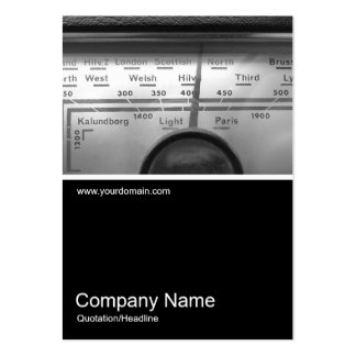 Half&Half Photo 0225 - Old UK Radio Dial Pack Of Chubby Business Cards