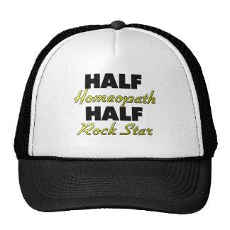 Half Homeopath Half Rock Star Trucker Hat