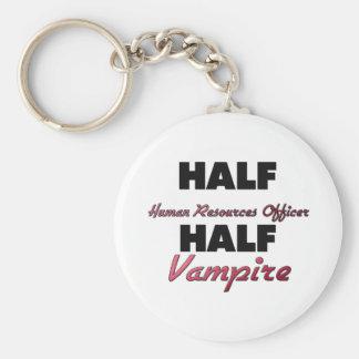 Half Human Resources Officer Half Vampire Key Chain