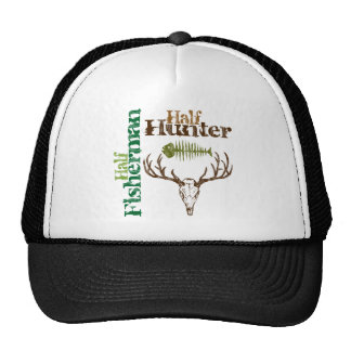 Half Hunter Half Fisherman Mesh Hat