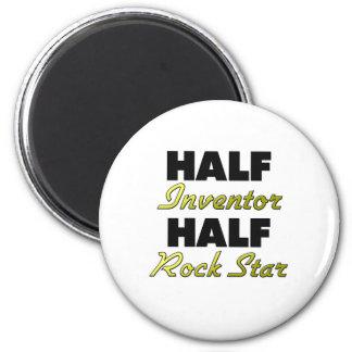 Half Inventor Half Rock Star Magnet