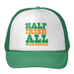 HALF IRISH ALL AWESOME funny St Patrick's day Cap