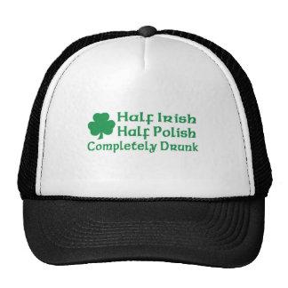 Half Irish Half Polish Completely Drunk Hats