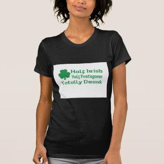 Half Irish Half Portuguese Totally Drunk T-Shirt
