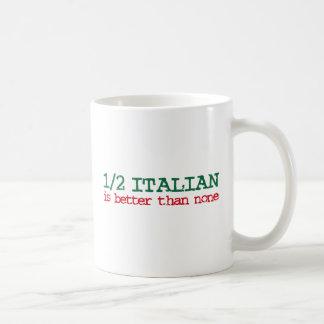 Half Italian Basic White Mug