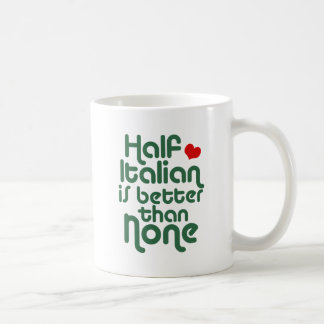 Half Italian Classic White Coffee Mug