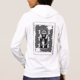 Half Joker, Half Queen (Black & White) Hoodie