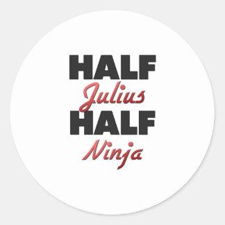 Half Julius Half Ninja Round Stickers
