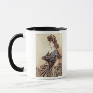 Half length portrait of a woman mug